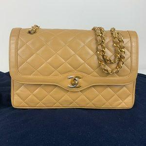 Chanel limited Paris edition double flap bag